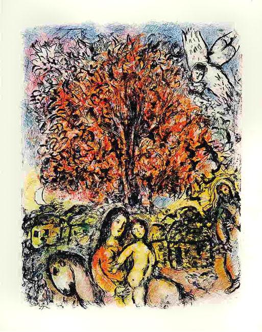 Chagall Marc : Lithographie : La Sainte Famille