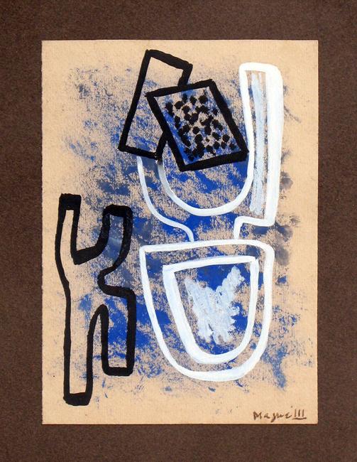 Magnelli Alberto : Oeuvre unique signée : Sans titre II