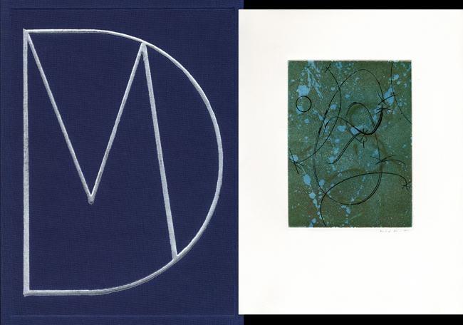 Ernst Max : Livre avec gravures : Hommage à Marcel Duchamp