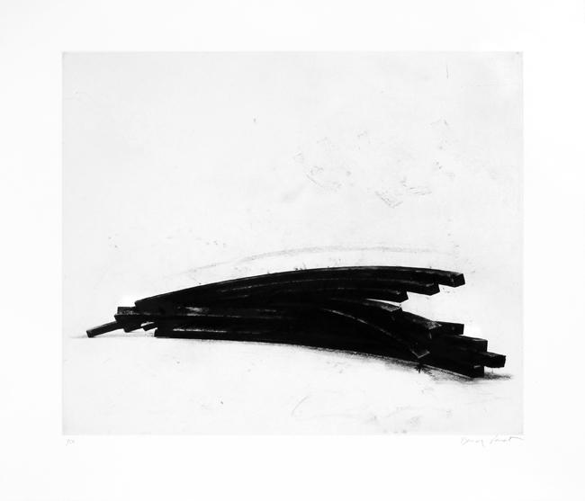 Venet Bernar : Gravure originale signée : Effondrement : Arcs I