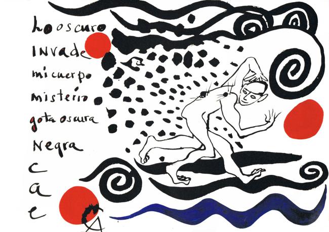 Calder Alexander : Oeuvre unique : Lo oscuro invade