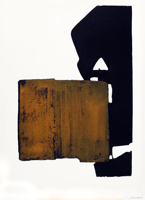 Soulages Pierre : Gravure originale signée : Eau-forte XIX