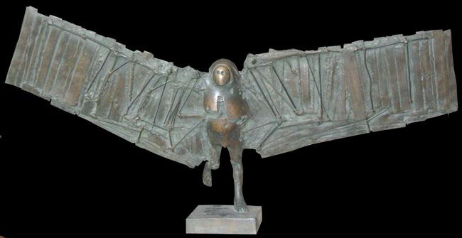 César Baldaccini : Sculpture originale signée : L'homme-oiseau