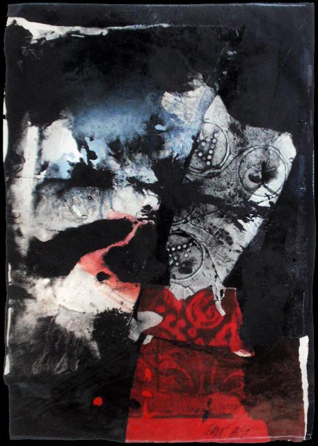 Clavé Antoni : Oeuvre unique signée : Composition IV