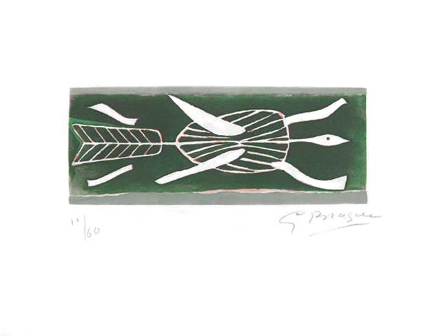 Braque Georges : Gravure originale signée : Thalassa I