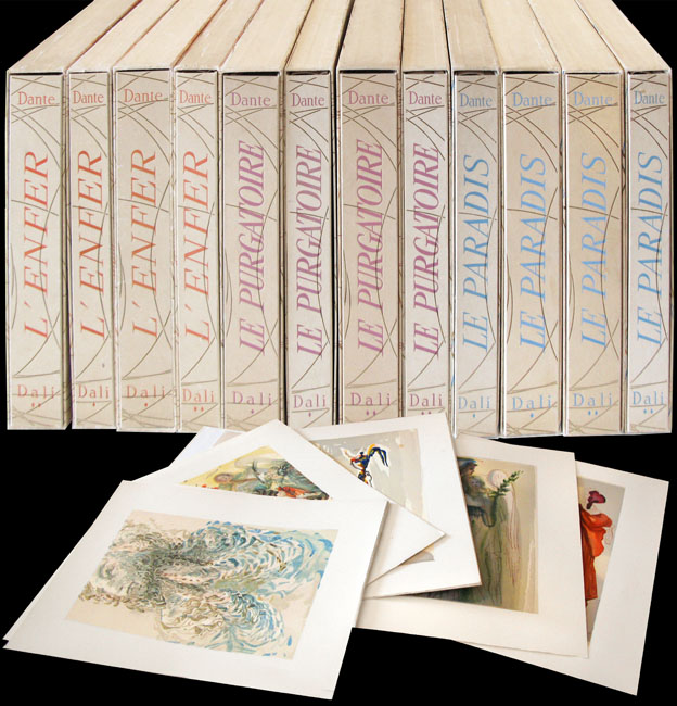 Dali Salvador : Bois gravés : La Divine Comédie, 12 volumes