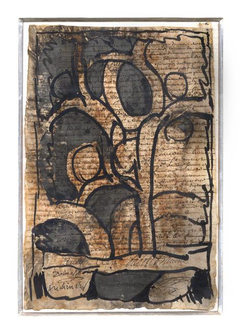 Alechinsky Pierre : Aquarelle originale signée : Composition