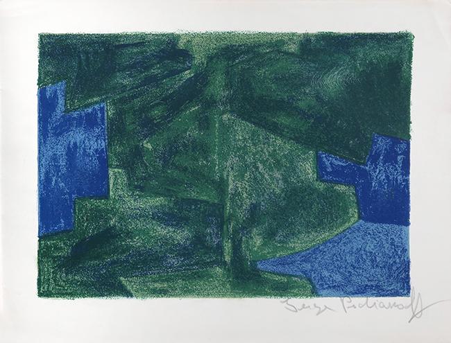 deefa8802c1 Composition bleue et verte 1963. Lithographie en quatre couleurs