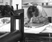 Véronique Agostini dans son atelier
