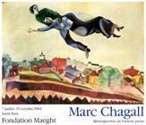 Affiche d'exposition de Marc Chagall