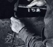 L'artiste gravant