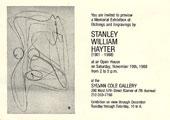 Carton d'invitation àune exposition de S. W. Hayter