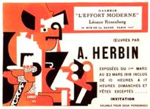 Carton d'invitation, exposition Herbin