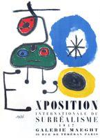 Affiche pour l'exposition surréaliste de 1947