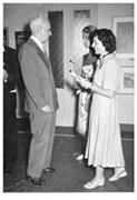 L'artiste recevant un prix