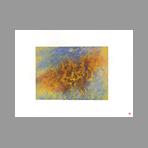 Original signed etching de Roland Aki : Composition A
