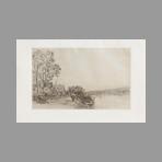 Original etching de Sisley Alfred : Bords du Loing, la charette