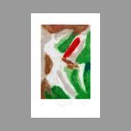 Signed etching carborundum de Arlandis Antoine : R.M. Rilke Intimate portrait 34