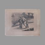 Original lithograph de Pissarro Camille : Les Trimardeurs ou Les Sans-g�te