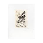 Original signed etching de  : Maison de Laborde à Temvilotepep