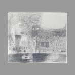 Original drawing in pencil de Kimura Chuta : Landscape