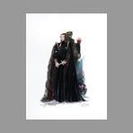 Original signed gouache de Catulle Claude : Lady Mc Beth