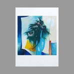 Gaveau Claude - Bouquet au vase bleu