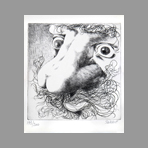 Original signed drypoint de Serre Claude : Nose