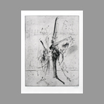 Original signed drypoint de Dado : Plate I, second state