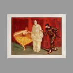 Original lithograph de Estampe Moderne : Pantomime