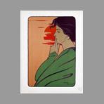 Original lithograph de Estampe Moderne : The hour of the silence