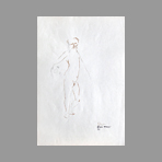 Signed drawing in ink de Mauri Fabio : Davide