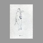 Original signed drawing de Mauri Fabio : Nude
