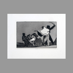 Original etching de Goya Francisco : What a warrior