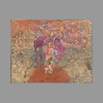 Original signed oil de Beer Franz : Composition IV
