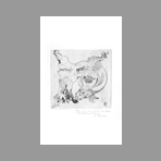 Dedicated original etching de Peterdi Gabor : Methamorphosis