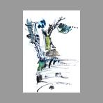 Oeuvre unique signée de Van Haardt Georges : Composition II