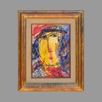 Original oil painting de Pell�n Gina : Feminine portrait