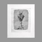 Original signed etching de Morandi Giorgio : Rose in boccio in un vaso