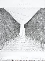 Punta seca original firmada de  : Sablier