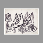Original signed drawing de Phillips Helen : Study of forms I
