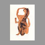Original signed lithograph de Laurens Henri : Femme assise à la jambe levée