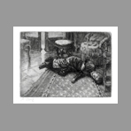 Original signed etching de Tissot James : Ren�e fainting after hearing