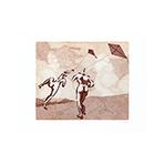 Signierte originale Radierung de  : Le coup de vent