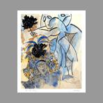 Signed print de Le Gac Jean : Les demoiselles d'Avignon II
