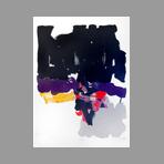 Lithographie originale signée de Miotte Jean : Composition abstraite I