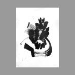 Lithographie originale signée de Miotte Jean : Composition abstraite III