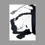 Acrylique sur papier signée de Miotte Jean : Composition abstraite IV