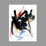 Lithographie originale signée de Miotte Jean : Composition abstraite V