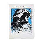 Original signed screenprint de  : L'homme bleu